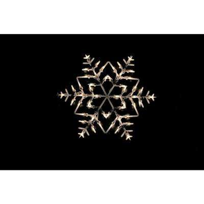 18 in. Lighted Snowflake Christmas Window Silhouette Decoration
