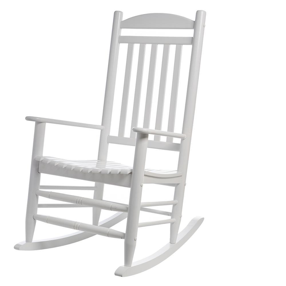 Hampton Bay White Wood Outdoor Rocking Chair 1 2 1200w