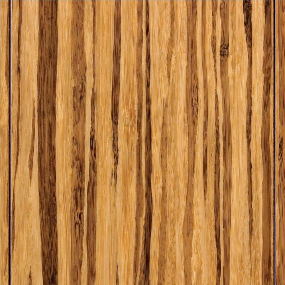 Take Home Sample - Strand Woven Tiger Stripe Bamboo Flooring - 5 in. x 7 in.