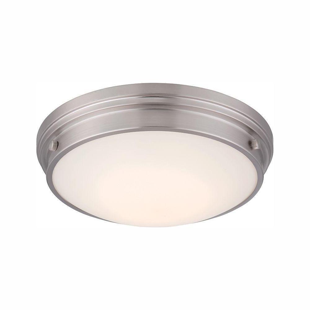 Galley Satin Platinum Interior LED Flush Mount
