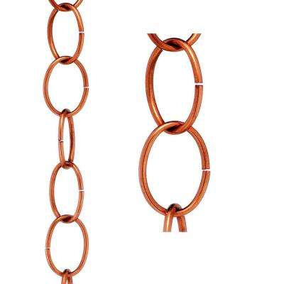 Single Link Rain Chain - Polished Copper