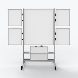 Collaboration Station 40 in. Mobile White Boardwith 4-Attachable Small Whiteboards