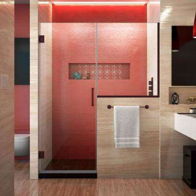 Unidoor Plus 59 to 59.5 in. x 72 in. Frameless Hinged Shower Door in Oil Rubbed Bronze