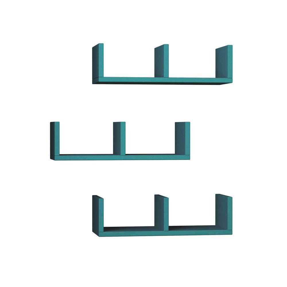 Waller Turquoise Modern Wall Shelf