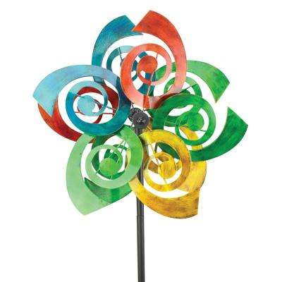 64 in. Spinner Multi Color Double Swirl