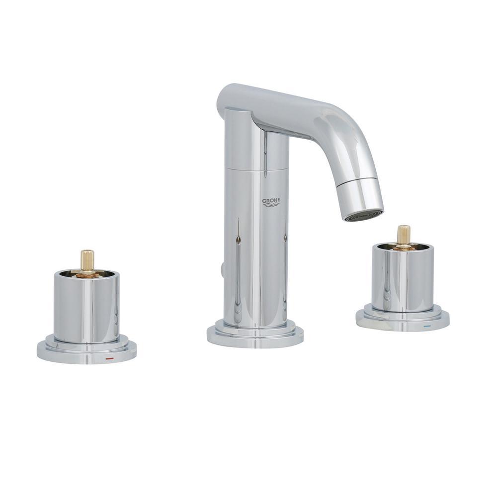 Atrio 8 in. Widespread 2-Handle Low-Arc Bathroom Faucet in StarLight Chrome