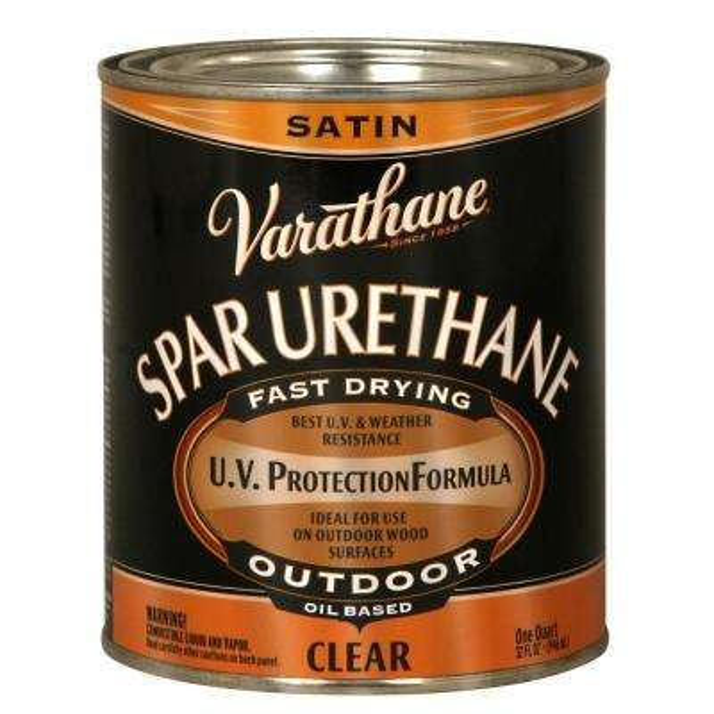 1-qt. Clear Satin Oil-Based Exterior Spar Urethane (Case of 2)