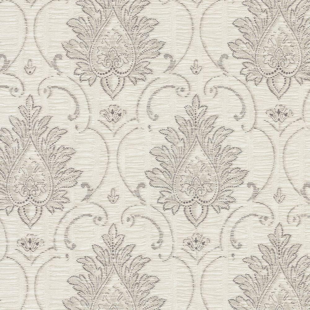Brewster 8 in. W x 10 in. H Morie Stitch Damask Wallpaper Sample
