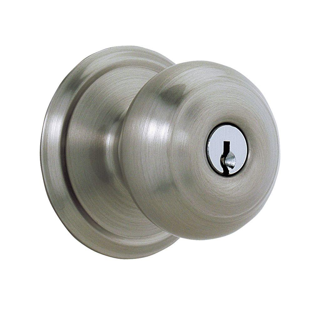 Schlage Georgian Antique Pewter Keyed Entry Knob-DISCONTINUED
