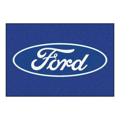 Ford - Blue 8 ft. x 5 ft. Indoor Area Rug
