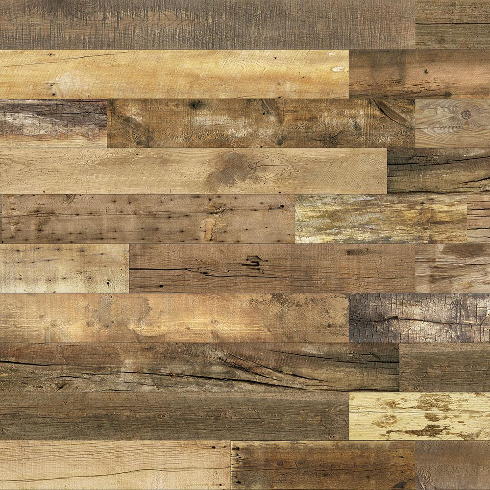 Enkor barnwood collection 3 8 in x 6 in x 64 in urban cowboy engineered wood interior accent wall panel 8 box 129200 the home depot