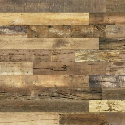 Barnwood Collection 3/8 in. X 6 in. x 64 in. Urban Cowboy Engineered Wood Interior Accent Wall Panel (8-Box)