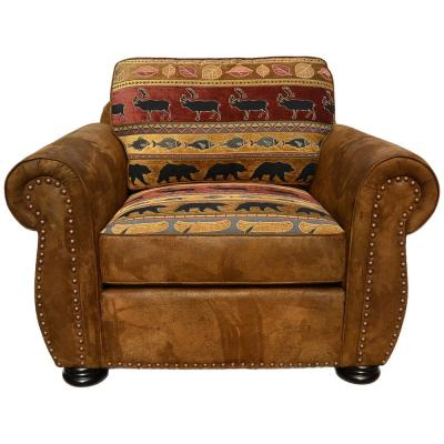 Hunter Transitional Arm Chair in Wildlife Pattern