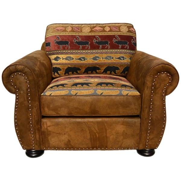 ba6c60334b4 Hunter Transitional Arm Chair in Wildlife Pattern 01-33C-03-8020 ...