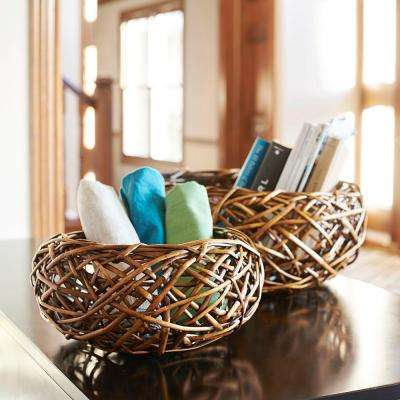 Birds Nest Willow Basket Set (2-Peice)