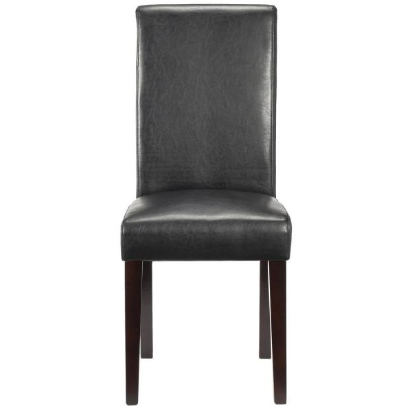 Awesome Home Decorators Collection Parsons Black Recycled Leather Short Links Chair Design For Home Short Linksinfo