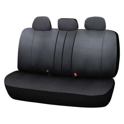 Adventure Class Poly Flat Cloth 26 in. L x 55.9 in. W x 31.5 in. H Bench Seat Cover in Black
