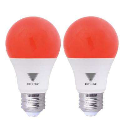 60-Watt Equivalent A19 Red LED Light Bulb (2-Pack)