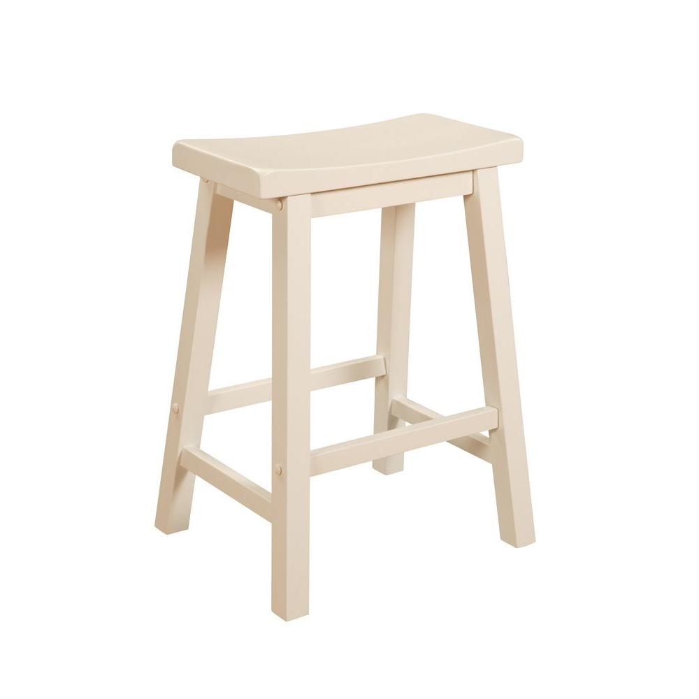 Powell 24 in. Pure White Bar Stool