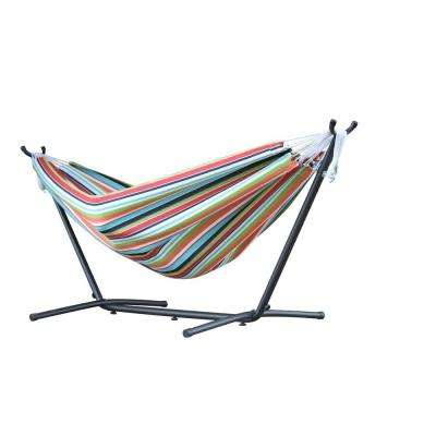 9 ft. Combo Sunbrella Hammock with Steel Stand in Confetti