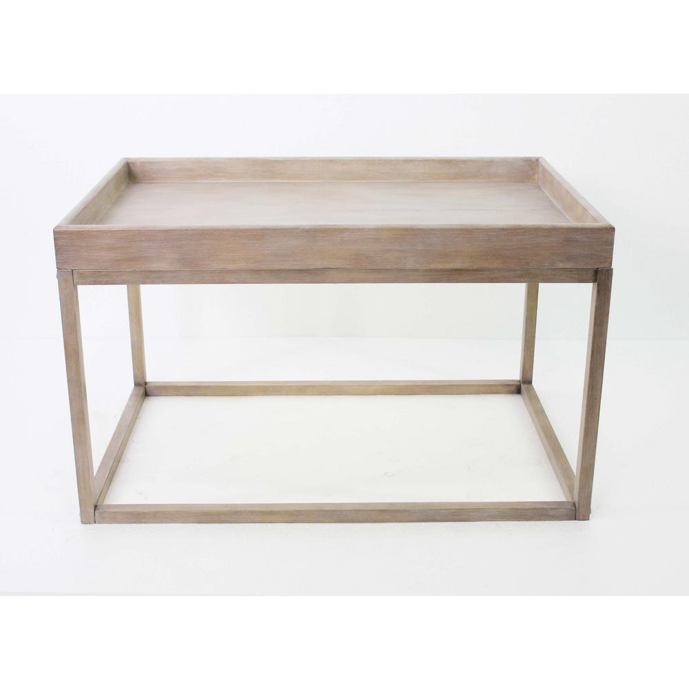 Light Brown Wood Coffee Table