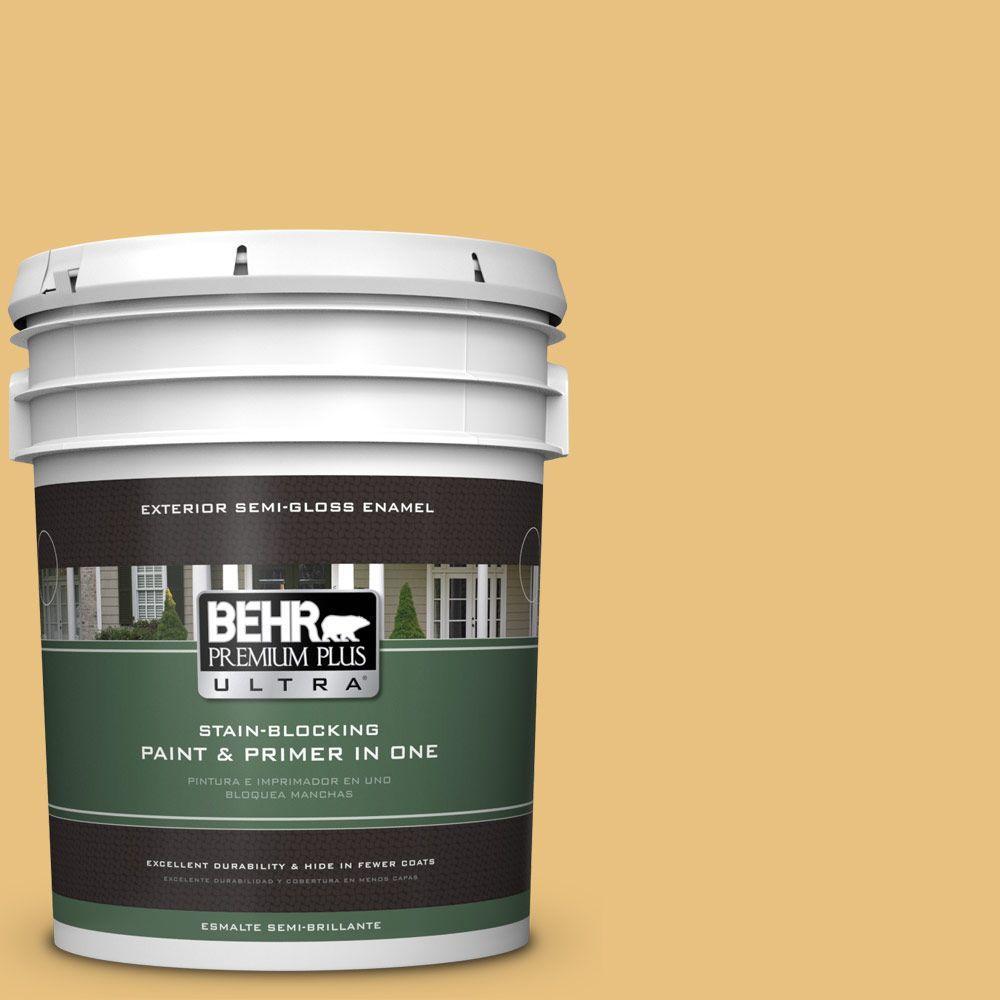 5-gal. #340D-4 Honey Bear Semi-Gloss Enamel Exterior Paint