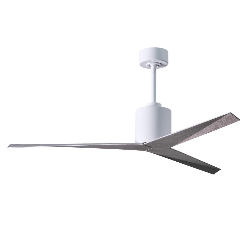 Atlas Eliza 56 in. Indoor/Outdoor Gloss White Ceiling Fan with Remote Control and Wall Control