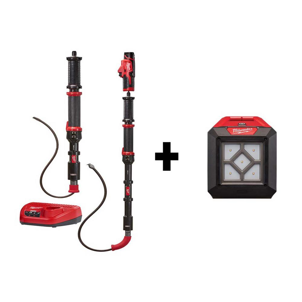 Milwaukee M12 Trap Snake 12-Volt Lithium-Ion Cordless 4 ft. and 6 ft. Auger Drain Cleaning Combo Kit with Free M12 Flood Light was $278.0 now $179.1 (36.0% off)