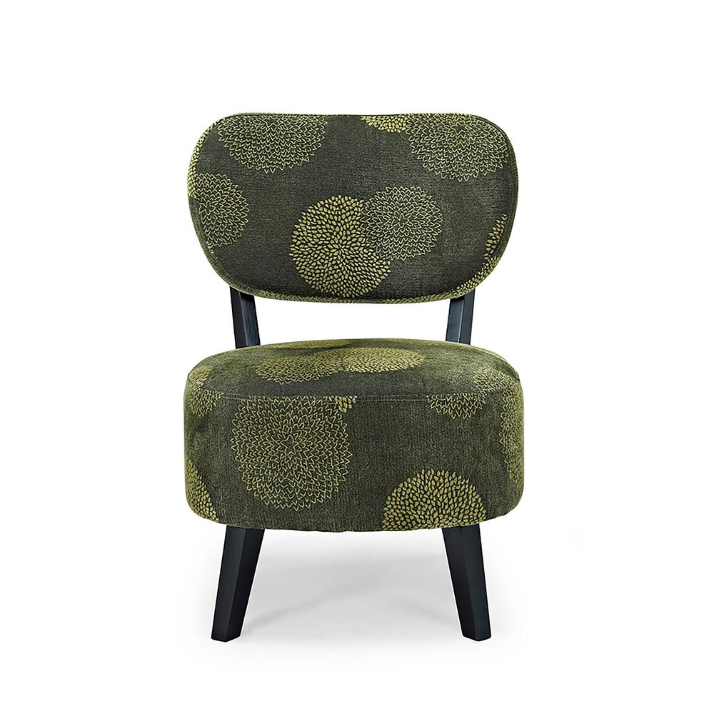 Sphere Green Sunflower Accent Chair