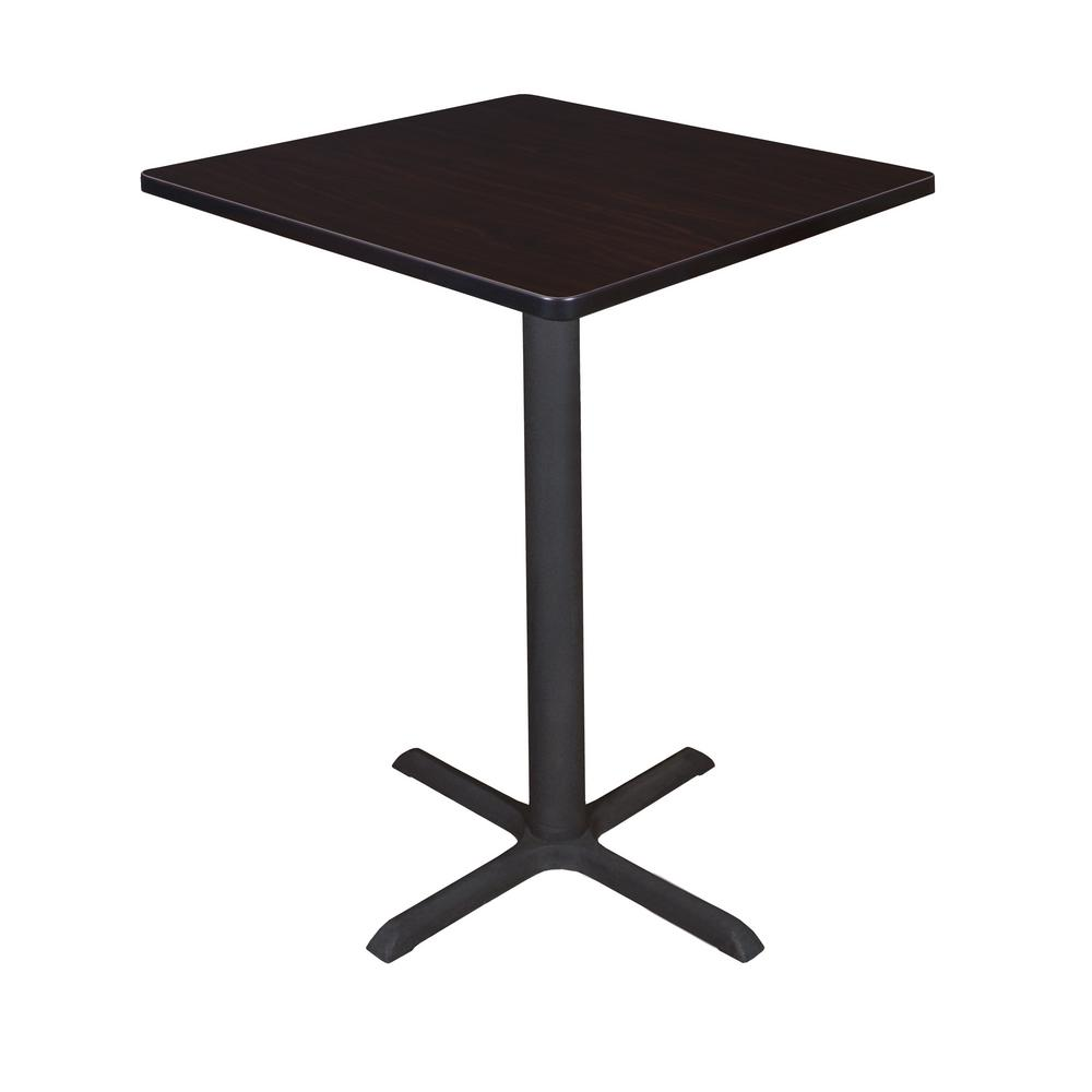 Cain Mocha Walnut 30 in. Square Cafe Table