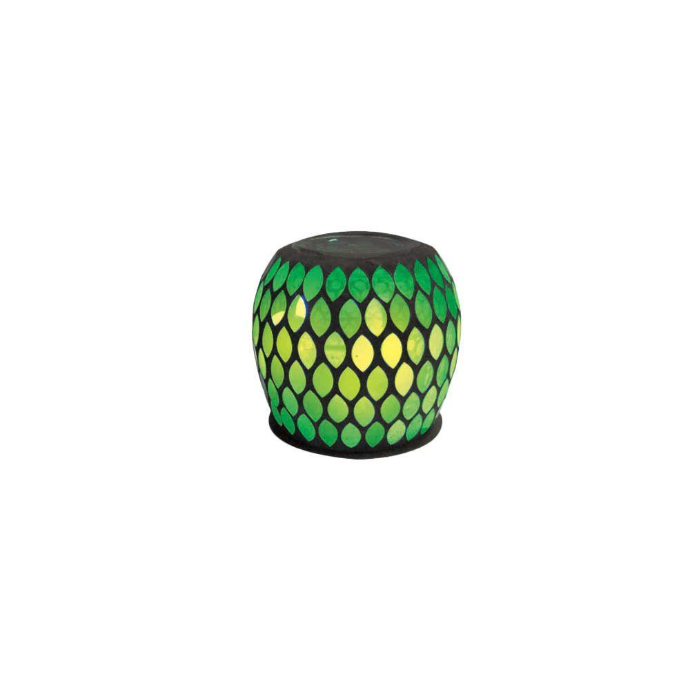 null 5 in. Solar Pinpoint Glass Table Accent with Green Light