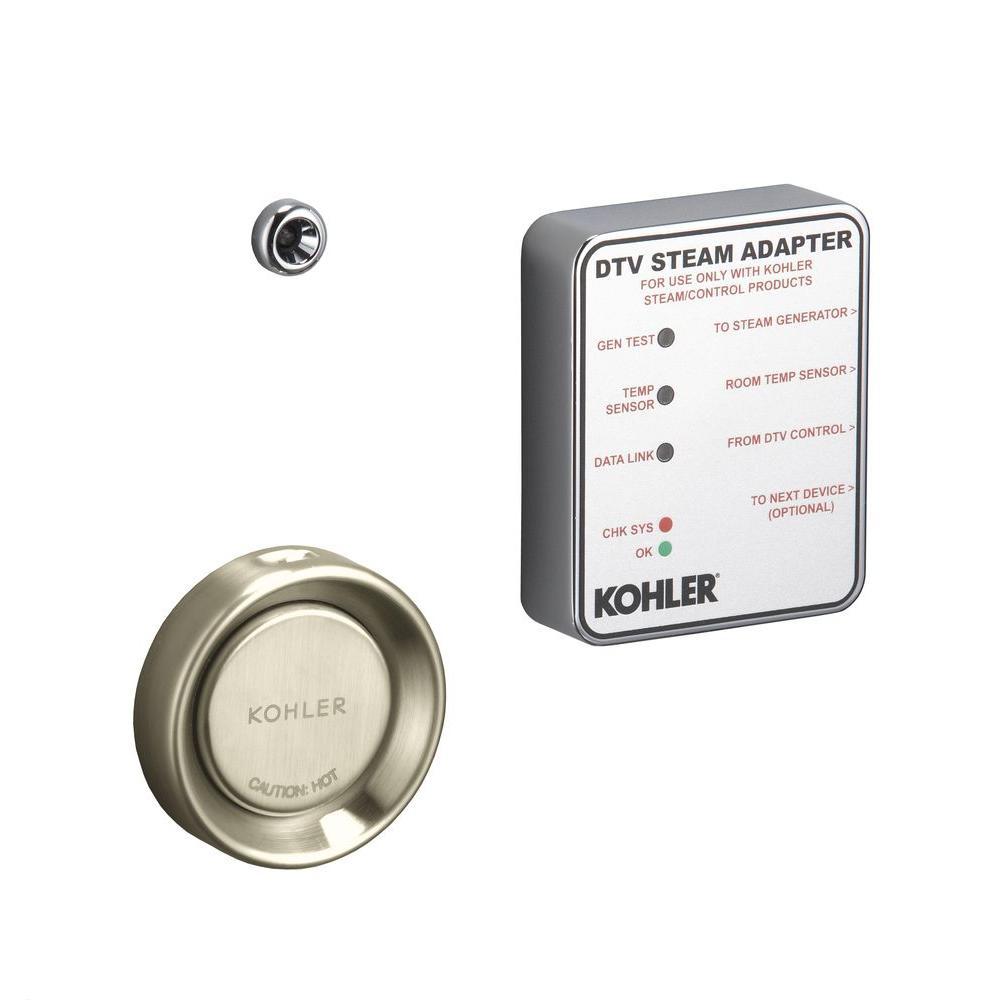 Kohler Steam Adapter Kit in Vibrant Brushed Nickel