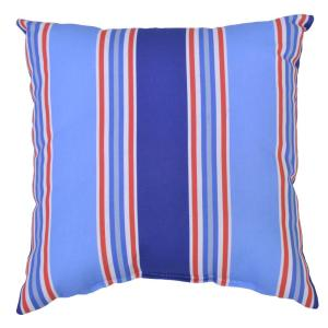 Mariner Stripe Square Outdoor Throw Pillow