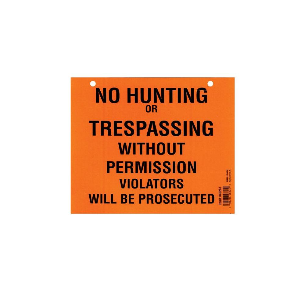 Hillman 7 in. x 8-1/2 in. No Hunting or Trespassing Pad (50-Pack)