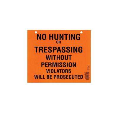 7 in. x 8-1/2 in. No Hunting or Trespassing Pad (50-Pack)