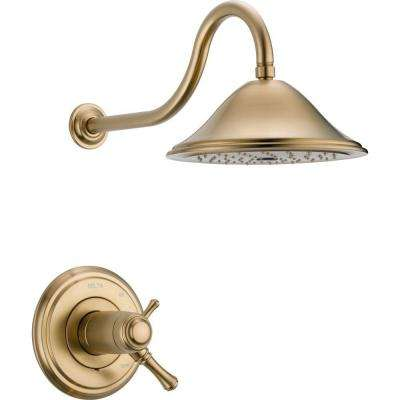 Cassidy TempAssure 17T Series 1-Handle Shower Faucet Trim Kit Only in Champagne Bronze (Valve Not Included)
