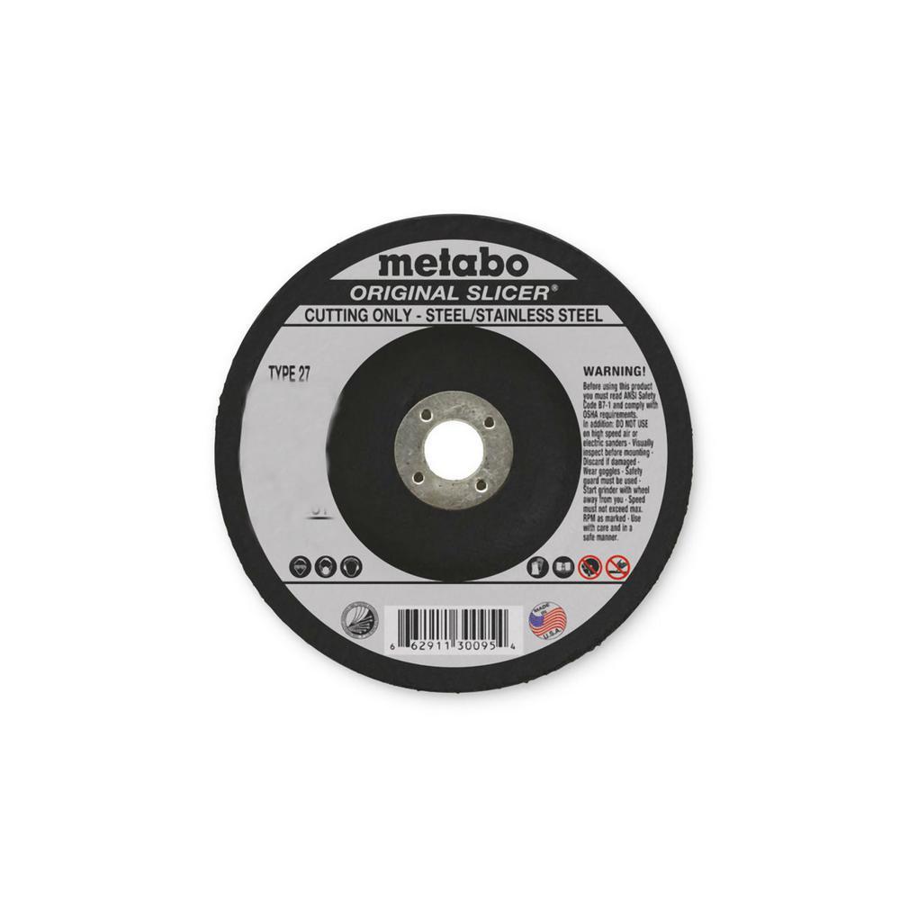 4-1/2 in. x 3/32 in. x 5/8-11 in. Type 27 Aluminum Oxide Cutting Wheel (25-Pack)