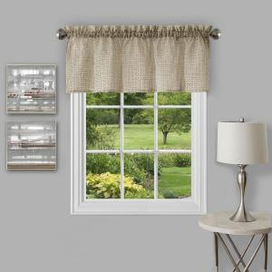 Achim Richmond 14 inch L Polyester Valance in Tan by Achim