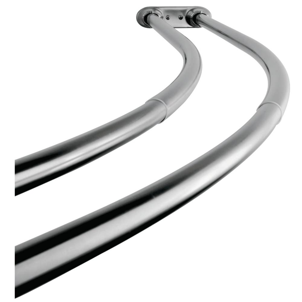 Double Curved Shower Curtain Rod In Polished Chrome