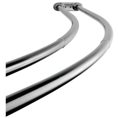 Vintage 60 in. to 72 in. Double Curved Shower Curtain Rod in Polished Chrome