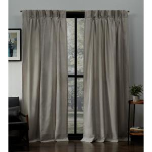 Exclusive Home Curtains Loha Beige Linen Pinch Pleat Top