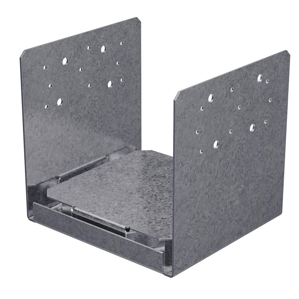 ABU ZMAX Galvanized Adjustable Standoff Post Base for 8x8 Nominal Lumber
