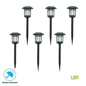 Deals on 6-Pack Hampton Bay Solar Black LED 3000K 6-Lumens Light