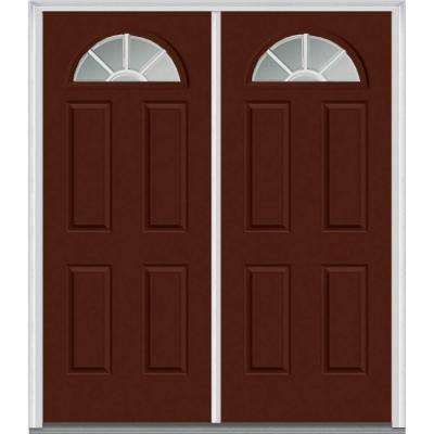 Red Front Doors. 72 in  x 80 Grilles Between Glass Right Hand 1 4 Red Front Doors Exterior The Home Depot