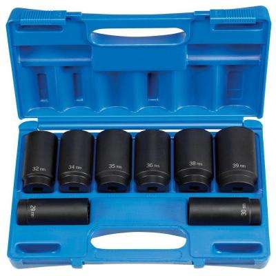 1/2 in. Drive 12-Point Axle Nut Impact Set (8-Piece)