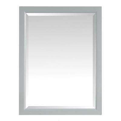 Emma 22 in. x 28 in. Surface Mount Medicine Cabinet in Dove Gray Finish