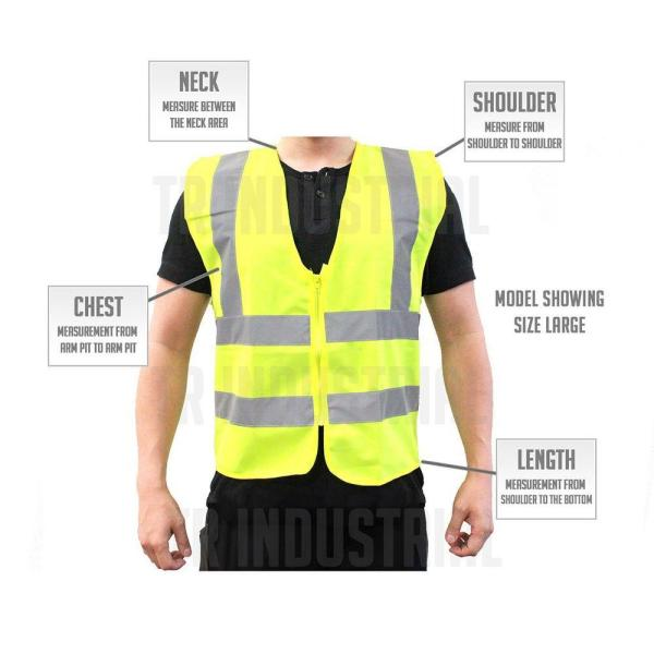 Worktex Safety WT51006 Safety Vest survey crews Breathable polyester mesh utility workers Zipper closure, and emergency response personnel Ideal for roadway construction workers Pack of 5 Designed to ANSI 2015 standards railway and metro workers
