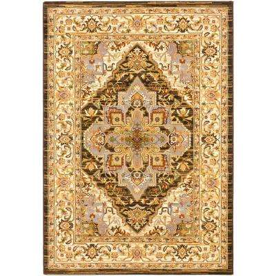 Persia Serapi Cream/Dark Brown 5 ft. x 8 ft. Area Rug
