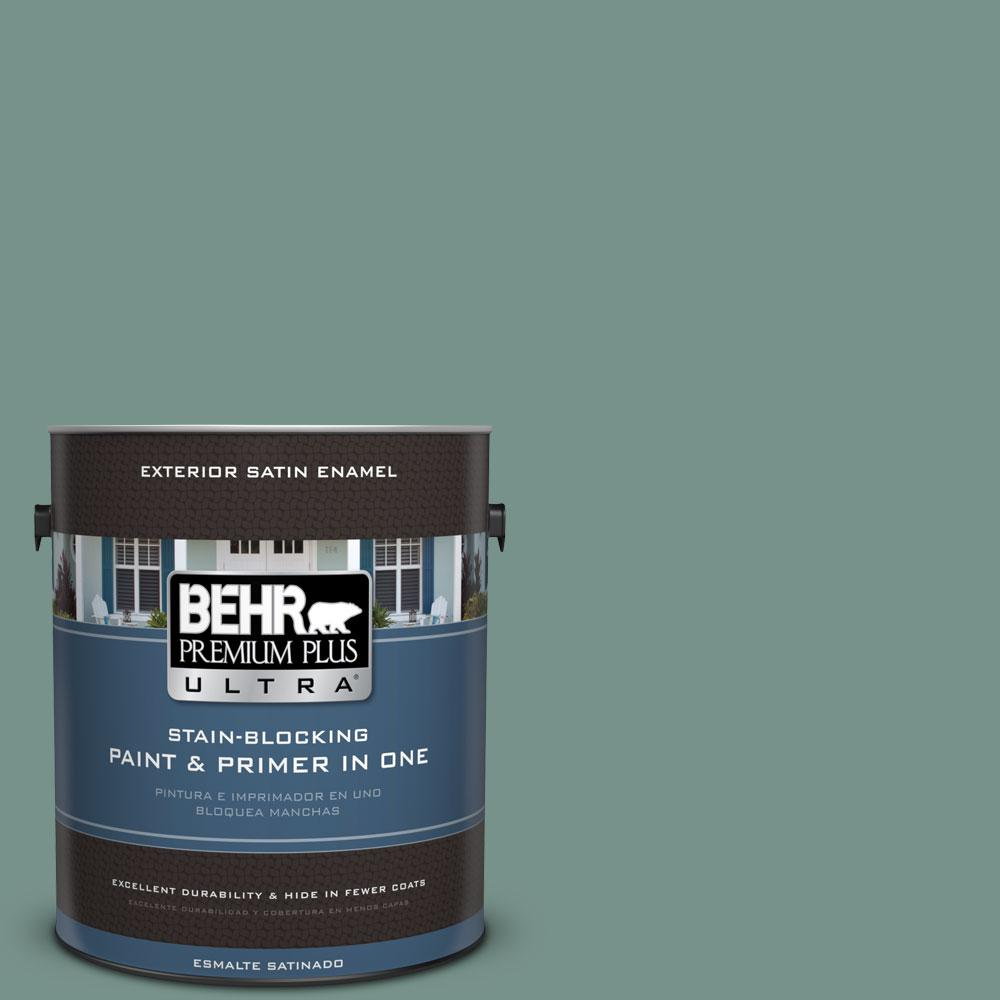 BEHR Premium Plus Ultra 1-gal. #S430-5 Longmeadow Satin Enamel Exterior Paint