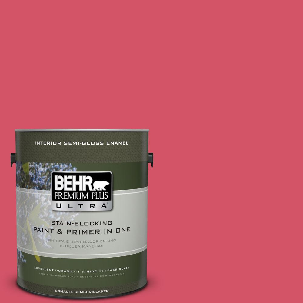 1-gal. #130B-6 Dragon Fruit Semi-Gloss Enamel Interior Paint